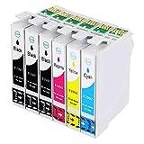 befon XL Druckerpatronen Ersatz für Epson 29 29 x l Set Chip und Füllstandsanzeige, kompatibel mit Epson Expression Home XP-235 XP-332