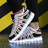 Pengye Sport und Freizeit Luminous Schuhe Boys Fluorescent Board Schuhe LED Lade Bunte Lichter Leuchtbrett Schuhe Schweißabsorbierend Atmungsaktiv (Farbe : B, größe : 41EU)