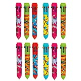 #10: Parteet Birthday Party Return Gifts- 10 Colour Ballpoint Pen Set with Favorite Cartoon Characters (Pack of 12)