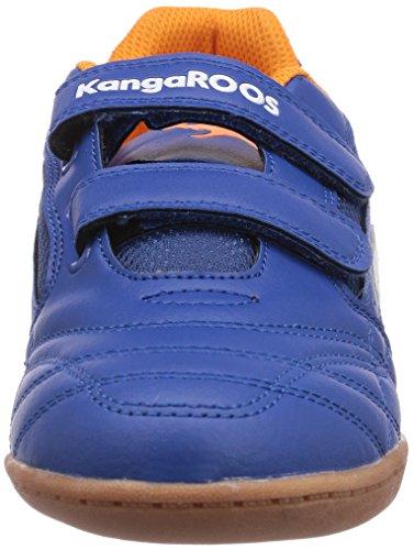 Kangaroos Backyard, Chaussures de sports en salle garçon Bleu (Royal Blue/Orange 476)