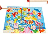 Lernspielzeug Angeln Früherziehung Holzpuzzle Pädagogischen Spielzeug kreativ Mädchen Junge Kleinkinder 0-6 Jahre Holzspielzeug lustig Eltern-Kind-Aktivität Angelspiel Magnetspielzeug als Geschenk