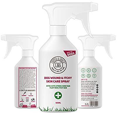 Cooper And Gracie C&G Cruelty free Pet Care Wound Spray For Stinky Itchy Dogs | Purple First Aid Sprays | Dog Animal Skin Cuts Wounds Treatment 500ml