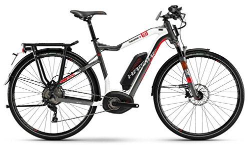 Haibike E-Bike XDURO Trekking S He 9.0 500Wh 11-G XT 18 HB Bpi Titan/Weiß/Rot Medium