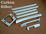 Dekorleisten Interieurleisten BMW E46 3D Struktur Folien Set Carbon Silber