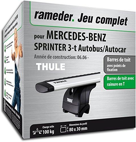 Rameder Pack Barres de Toit WingBar Evo pour Mercedes-Benz Sprinter 3-t Autobus/Autocar (114735-05586-2-FR)