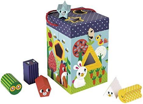 Janod – – Boîtes de de de tri – Thème jardin animaux – avec 6 personnages en carton boîtes Carton, multicolore   Fabrication Habile  b36d6a