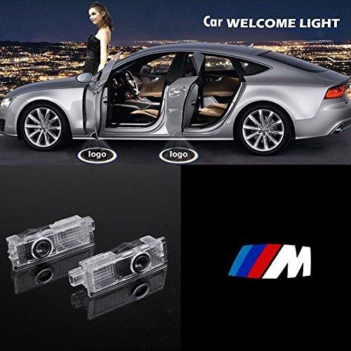 ALBRIGHT 4pcs Auto-Logo Tür Licht 3D-Logo Laser Willkommen Projektorlampe Türbeleuchtung Einstiegsbeleuchtung