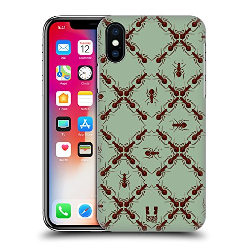 Head Case Designs Formiche Stampe Insetti Cover Retro Rigida per Apple iPhone X Formiche