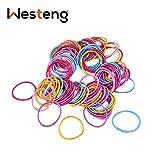 Westeng Bande 100PCS neonata bambini elastici del legame dei capelli Piccolo sottili elastici per capelli