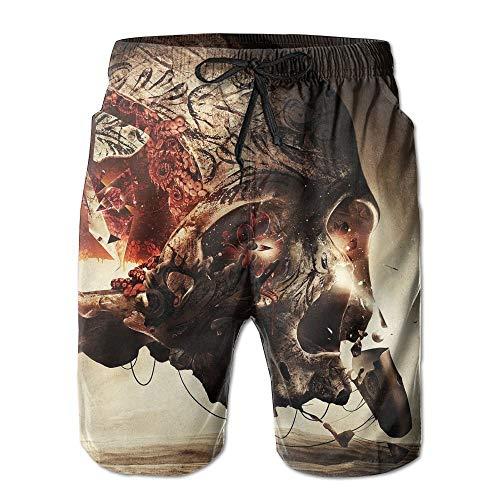 Bag hat Skull Art Sunshine Cool Men's Boardshorts Quick Dry Pocket Beach Shorts XX-Large