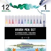 Stationery Island Brush Pen – Wasserfarben Pinselstift 12 Farben + 1 Wassertankpinsel