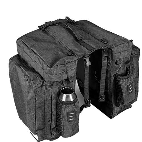 LXB Bike Rear Seat Trunk Carrier Rack Bag - 22L Kapazität Wasserabweisende Stoff verschleißfest, reflektierende Trim für Reisen und Tourismus im Freien. -
