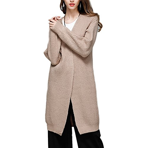 JLTPH Femmes Casual Manche Longue Tricot Chandail Cardigans Pull Sweaters color3