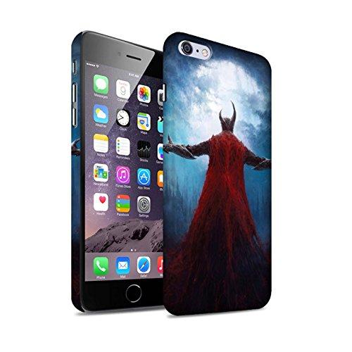 Offiziell Chris Cold Hülle / Matte Snap-On Case für Apple iPhone 6+/Plus 5.5 / Dramargu/Vollmond Muster / Dämonisches Tier Kollektion Dunkelste Stunde
