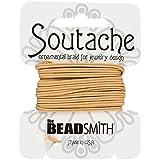 Beadsmith soutache Cord–Deep Beige de poliéster, 3yards