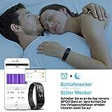 Mpow Fitness Tracker mit Pulsmesser, Wasserdicht Fitness Armbänder Intelligente Armbanduhr Aktivitätstracker Pulsuhr Schrittzähler Uhr Smartwatch Anruf SMS Beachten für iOS Android Handy - 5