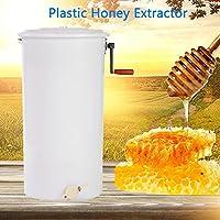 """Extracteur de Miel Manuelle (à la Main),Équipement Manuel d'apiculture de Tambour de nid d'abeilles en Plastique d'équipement d'extracteur de Miel de Cadre 2 28 \""""x 16\"""" (HxD)"""