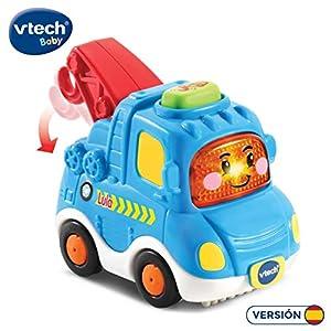 VTech- Lula camión grúa TutTut Bólidos Vehículo Interactivo con Voz, música y Efectos de Sonido, Incluye botón Sorpresa, Multicolor (80-516622)
