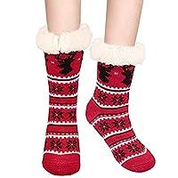 Slipper Socks, Fixget Slipper Fluffy Socks for Women Girls Warm Soft Non-Slip Winter Indoor Slipper Socks Bed Slippers