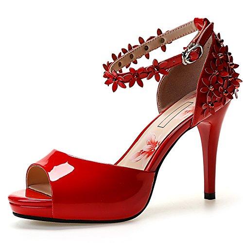 Sandali rossi con punta aperta per donna Fourever Funky 5NEEsr5MT6