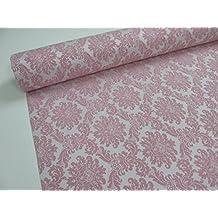 Metraje 0,50 mts. tejido Jacquard Ref. Versalles, color Rosa, con ancho 2,80 mts.