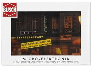 Busch 5920  - Carteles Luminosos de Edificios para maquetas  Importado de Alemania