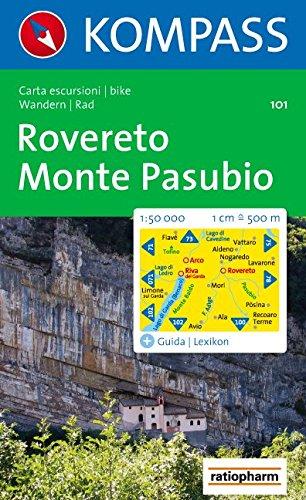 Carte touristique : Rovereto, Monte Pasubio par Cartes Kompass