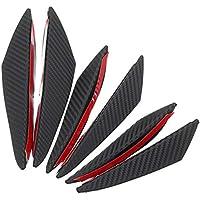 Deflettore del vento 6Pcs Antivari anteriore del paraurti anteriore del paraurti della parte anteriore della fibra del carbonio Antivari anteriore