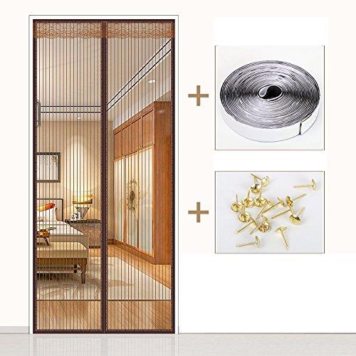 Kjtgfc in estate il velcro zanzariera magnetica porta in camera da letto di divisione anti - ventilazione di cifratura del muto per uso domestico-a-130x200cm(51x79inch)