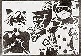 Poster Miraculous (Prodigiosa) Le Storie Di Ladybug E Chat Noir Handmade Graffiti Street Art - Artwork