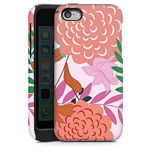 Apple iPhone 6 Housse Étui Silicone Coque Protection Fleurs Fleurs Motif Cas Tough brillant