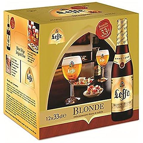Bière Leffe Blond Boîte à 24 bouteilles x 0,33 lt.