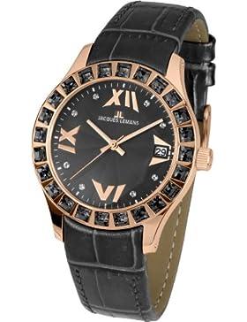 Jacques Lemans Damen-Armbanduhr Rome Analog Quarz Edelstahl beschichtet 1-1571ZH