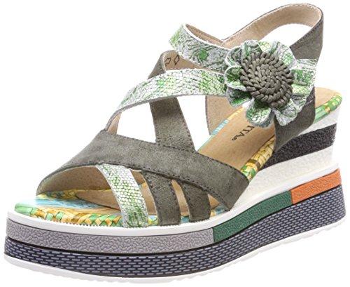 Laura vita daddy 03, sandali con cinturino alla caviglia donna, verde kaki, 41 eu