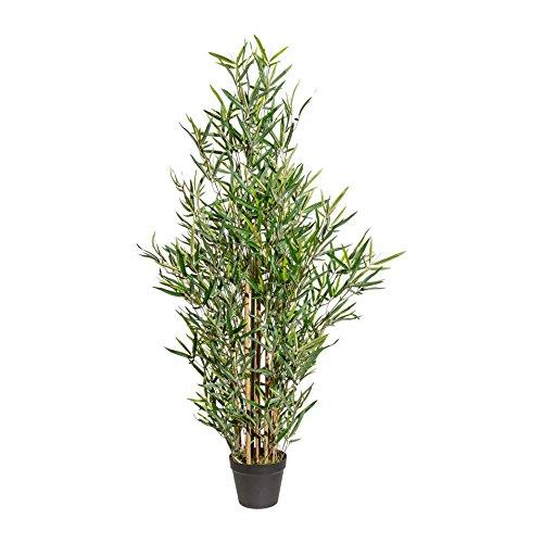 wohnfuehlidee Kunstpflanze Mini-Bambus grün, im Topf, Höhe ca. 120 cm