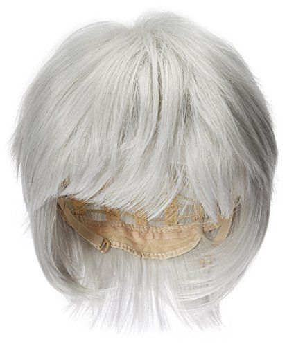 okyo Ghouls Ken Kaneki Cosplay Wig Herren kurz Silber Weiß Halloween Party Haar ()