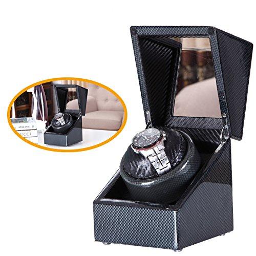 Carbon-New-Style-Love-Nest-Single-Premium-Carbon-Uhrenbeweger-Piano-Finish-pure-mit-hochwertige-japanische-Mabuchi-Motor