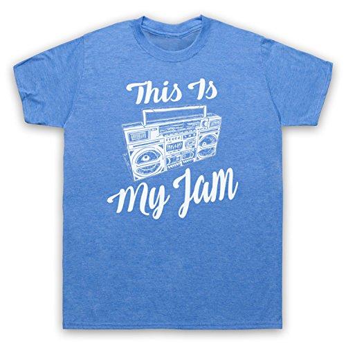 This Is My Jam Music Slogan Herren T-Shirt Jahrgang Blau