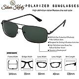 Silver Kartz Unisex Polarised Double Bar Classic Elite Aviator Black Sunglasses