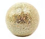 Beleuchtete Mosaikkugel 25cm gold mit Licht aus farbigem Glas