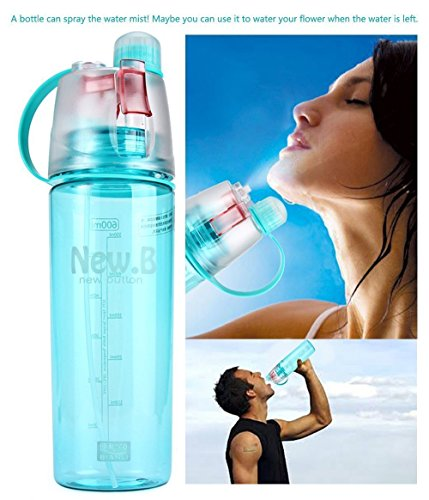 Saysha Water Mist Spray water Bottle 600 ml Plastic Sports Spray Water...