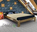 """New bed """"F5"""" solid wooden Oak, Alder, Walnut, Pine (Oak, King Size 150_200 cm)"""