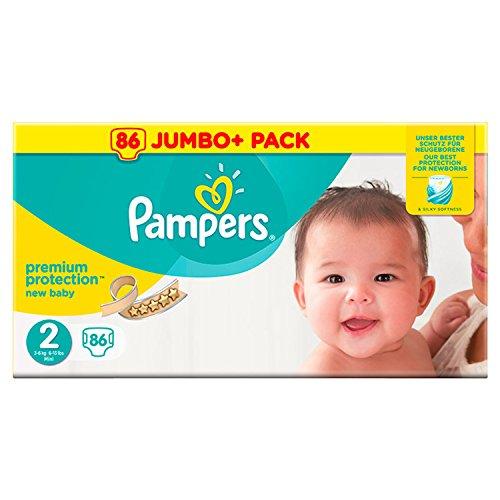 Pampers 86Jumbo Pack Premium Schutz New Baby Größe 2, 2von wie Pack