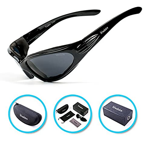 Today's deal VERDSTER TourDePro POLARISED Sunglasses For Men and Women - Great for Driving, Fishing, Cycling - UV Protected, Enhanced Comfortable Wraparound Frame - Case, Pouch & Cleaning Cloth