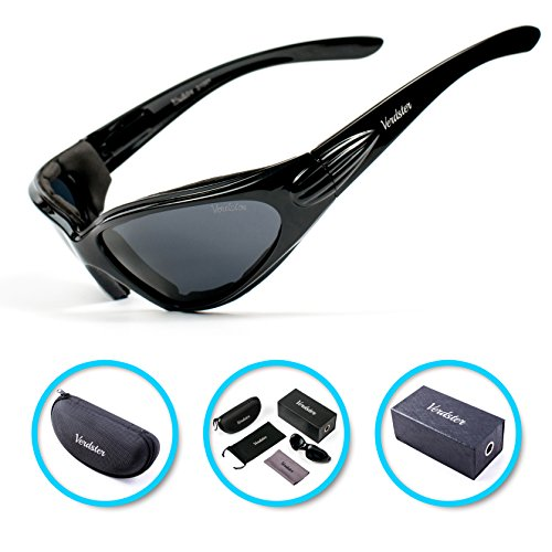 PROMO Verdster TourDePro POLARISIERTE Sonnenbrillen für Herren und Damen - ideal zum Fahren, Angeln, Wassersport - UV geschützter, verbesserter, komfortabler Umschlagrahmen - Etui, Beutel & Reinigunstuch (Sonnenbrillen Basketball)