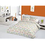 Happy Campers Tutti Frutti Campervans VW Splitscreen Bay Window 100% Cotton (King (Includes 2 Pillowcases))