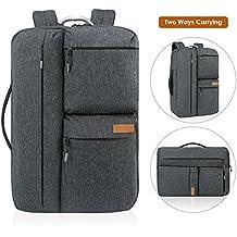 Reise Laptop Rucksack, REYLEO Business Handtasche Herren Damen Anti Diebstahl 17 Zoll Computer Tasche für Männer und Frauen, wasserabweisend Tagesrucksack für College Schule City- dunkelblau RB32