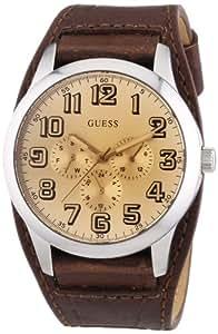 Guess Herren-Armbanduhr XL Mens Trend Analog Quarz Leder W0182G1
