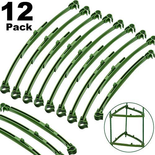 Frienda 12 Stücke Verstellbarer Rungenarm Spalierverbinder Pflanzenteile Verbinder für Tomatenkäfige und Pflanzenteile mit 11 mm Durchmesser, 24-34 cm Erweiterbarer Rungenarm aus Kunststoff - Pflanzenteile