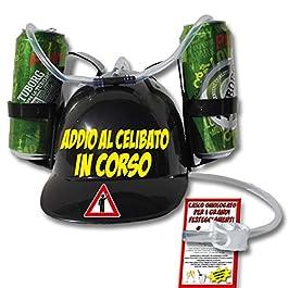 Bombo Casco Porta lattine per Addio al Celibato.